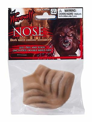 Dog Nose Mask Halloween (Deluxe WEREWOLF NOSE Latex Rubber Animal Mask Wolf Toy Funny Monster Wild Dog)