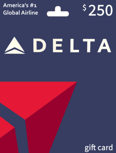 Delta Airlines $250 balance gift card