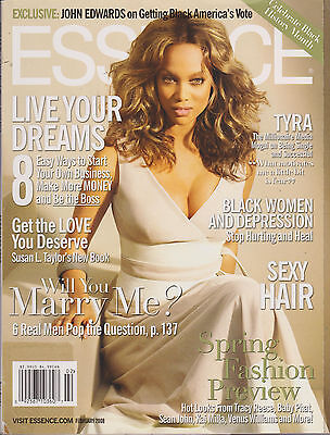 Essence Magazine February 2008  Tyra Banks