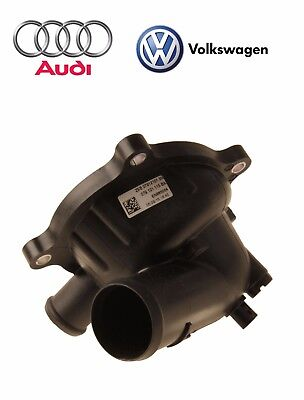 For Audi A6 Q VW Engine Motor Coolant Thermostat w/ Housing & Gasket Genuine
