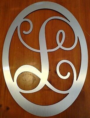 Aluminum Frame Letter - BRUSHED METAL or White Monogram Letter Initial Custom 22