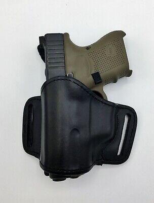 Bianchi Gun Leather Model 105 Minimalist Belt Slide Holster, Size 13/15, LH Left