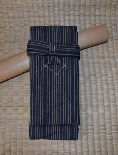 Japanese Sword Bag Cotton Lined shirasaya Blue striped Tanto Size