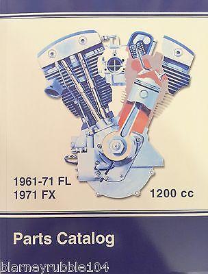 Harley FL FLH Parts Manual Catalog Book 1961-71 Nose Cone Shovelhead Panhead  ()