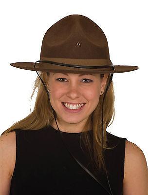 Costume Mountie Hat Wool Felt Canadian RCMP Doughboy Hat Drill Sergeant 22859
