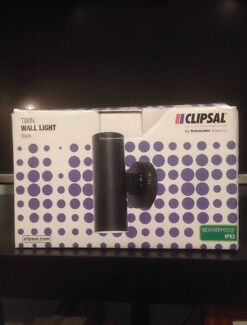 Clipsal Wall Lights Black Weather Proof