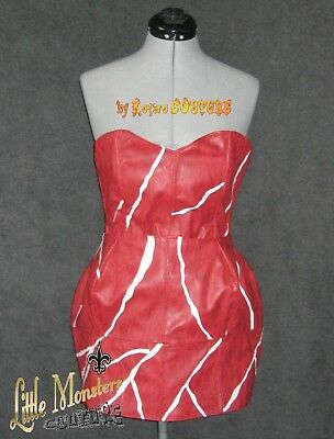Lady Gaga BORN THIS WAY BALL Poker Face MEAT DRESS Costume Cosplay Outfit - Meat Costume