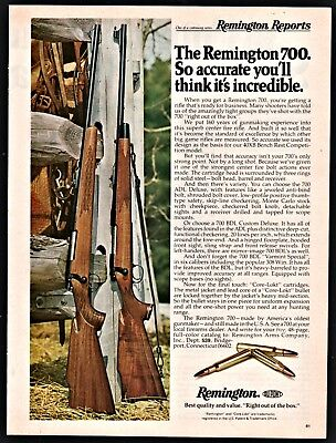 "Remington 700 Center Fire Bolt Action Rifle Vintage Ad 10/"" x 7/"" Metal Sign"