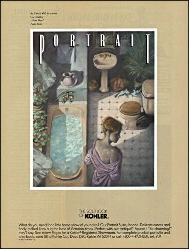 1991 Gary Kelley art Home Show Kohler Co. bathroom fixtures retro print ad S14
