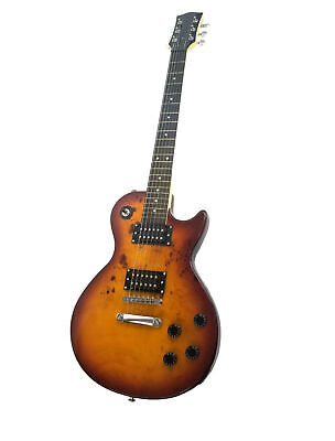 Zenison Classic LP Style Electric Guitar Burled Maple, Color: Sunburst Tobacco