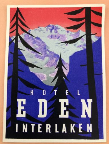 Luggage Label Hotel Eden Interlake - Switzerland