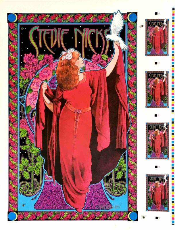 Rare Stevie Nicks Orig 1998 Uncut Poster Sheet White Wing Dove Signed Bob Masse