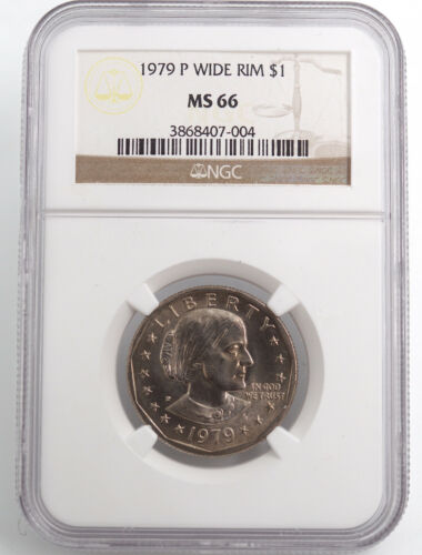 1979-P WIDE RIM (NEAR DATE)  SUSAN B ANTHONY DOLLAR NGC MS66