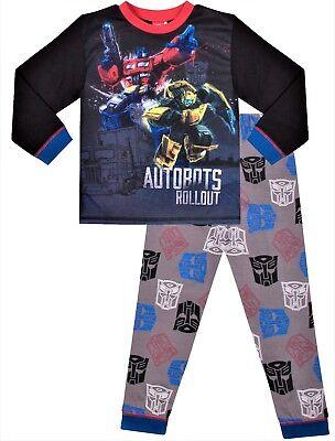 Transformers Optimus Prime and Bumblebee Long Pyjamas PJs Boys Pajamas w18