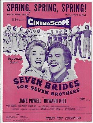 SPRING, SPRING, SPRING! Sheet Music from SEVEN BRIDES FOR SEVEN BROTHERS (Seven Brides For Seven Brothers Sheet Music)