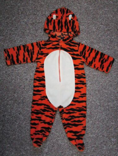 Baby Grand Plush Tiger Costume Infant Sz 6 to 9 Months Halloween jumpsuit Unisex