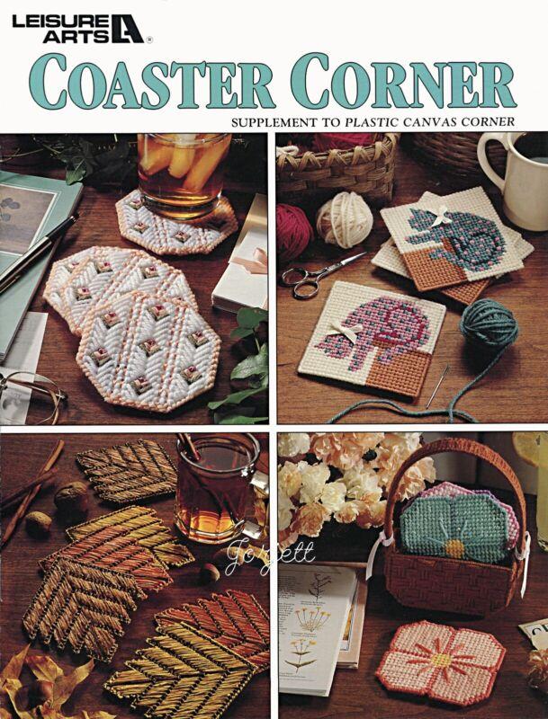 Coaster Corner, 8 Everyday Holiday Coaster Sets plastic canvas pattern book NEW