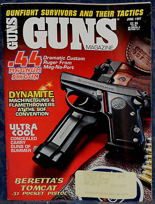 Magazine *GUNS* June 1997 !!! America's Mighty War Horse: The M1A RIFLE !!! for sale  Shipping to Canada