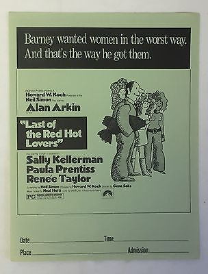 Distributor's Promo movie Flyer ~ LAST OF THE RED HOT LOVERS, 8.5 x 11