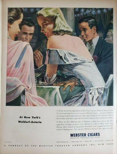Vintage Webster Cigar Print Ads Ephemera Wall Art Decor Waldorf-Astoria