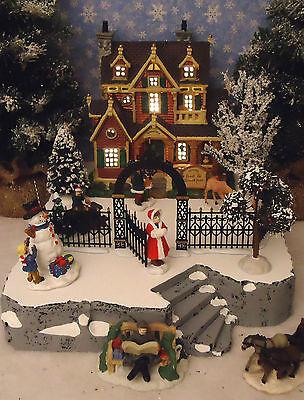 Christmas E Snow Village Display ADD-ON Platform Base Dept 56 Lemax B