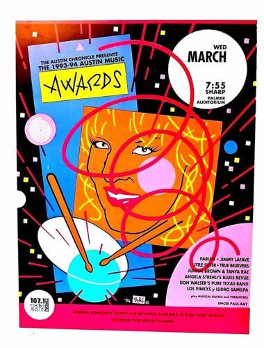 Austin Music Awards 1993 SXSW - GUY JUKE POSTER. ORIGINAL...RARE silkscreeened