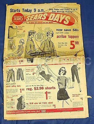 Charlotte  Nc  Observer March 24 1958 Newspaper Sears Roebuck Days Sale Adverts