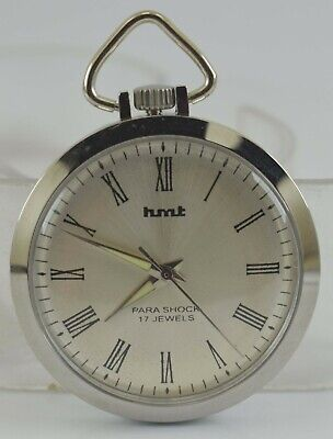 Vintage HMT 17Jewels Winding Pocket Watch For Unisex Use Working Good D-273-17