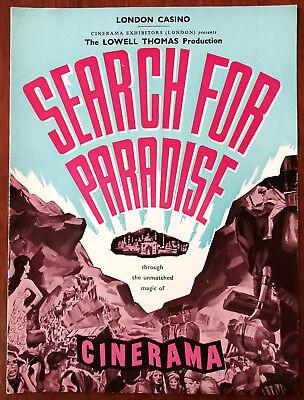 Search For Paradise Cinerama, London Casino Film book 1957 + 1961 Cinerama Ticke