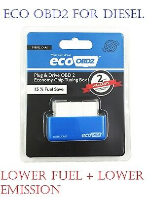 Eco OBD2 Economy Chip Tuning Box Interface Blue Plug and Drive for Diesel Cars