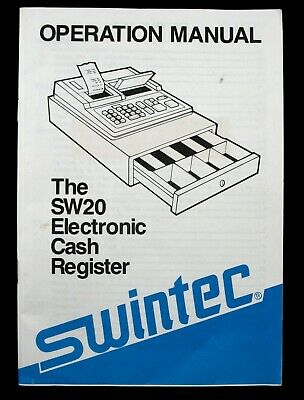 Swintec Sw20 Electronic Cash Register Operation Manual