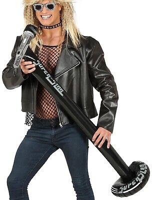 Zum Aufblasen Aufblasbare Groß 112cm Mikrofon Musik Rock Party Kostüm Zubehör
