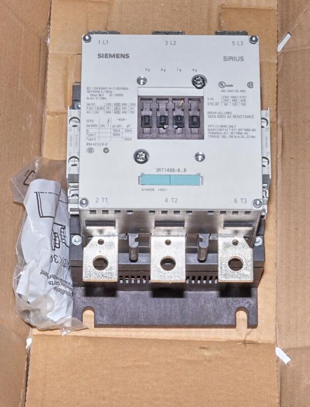 Siemens 3RT1466-6AP36 125HP Contactor 3-Pole AC3/138A 360A-Break *NEW*