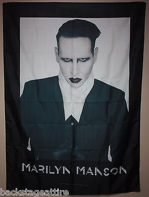 MARILYN MANSON Proper-End Times Tour Cloth Fabric Poster Flag Wall Tapestry-New!