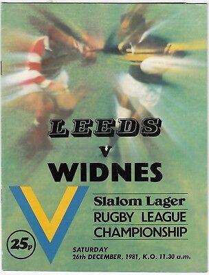 Leeds v Widnes 1981/2