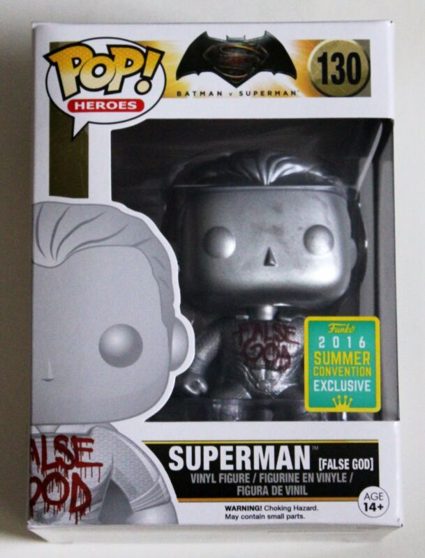 SDCC 2016 SUPERMAN FALSE GOD FUNKO POP VINYL SUMMER EXCLUSIVE FIGURE BATMAN