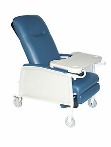 NEW HOSPITAL Drive Medical D574 BR 3 Position Geri Chair Recliner, Blue  Ridge