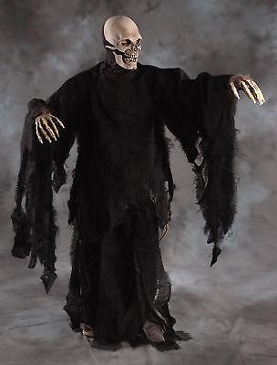Totenkopf Reaper Skelett Erwachsene Halloween Maske Kostüm Handschuhe - Reaper Kostüme Maske