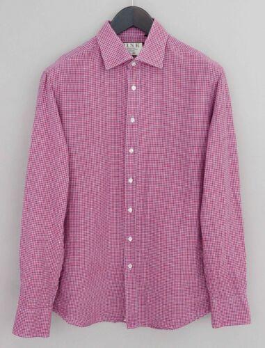 Men Thomas Pink Formal Shirt Slim Fit Cotton 41 16 MIA182
