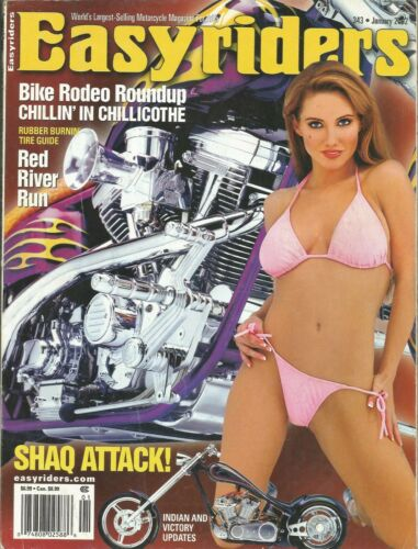 JANUARY 2002 EASYRIDERS MAGAZINE MOTORCYCLES GIRLS CHILLICOTHE INDIAN VICTORY