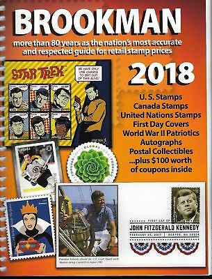 2018 Spiral Bound Brookman Catalogue Canada US Stamps & Covers Price Guide