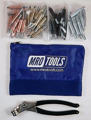 K-SERIES BEGINNER CLECO SHEET METAL FASTENER KIT w/ Mesh Carry Bag (K5S40)
