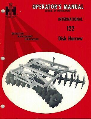 International122 3-point Hitch Disc Harrow Operators Manual