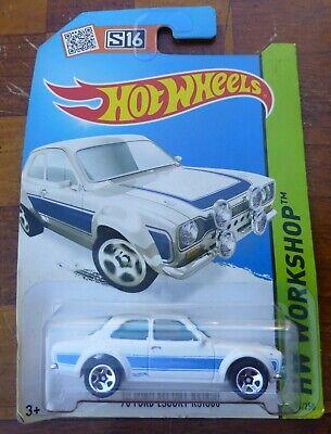 Hot Wheels HW Workshop '70 Ford Escort RS1600 235/250 WHITE/BLUE