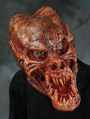 f Schädel Latex Halloween Maske Moving Mund (Dämon Schädel Maske)