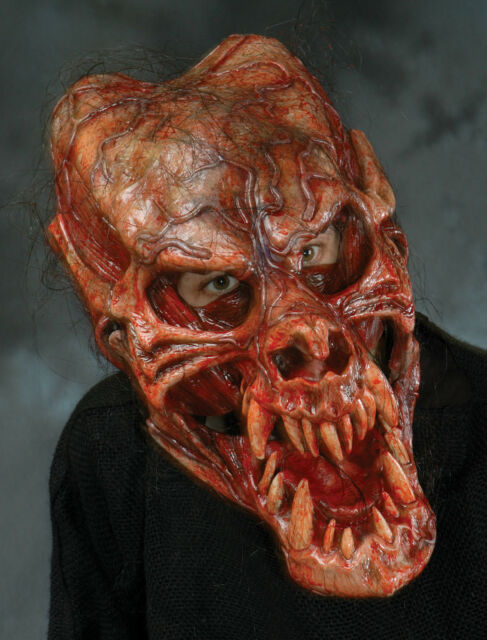 bloody demon werewolf skull beast latex halloween mask moving mouth - Bloody Halloween Masks