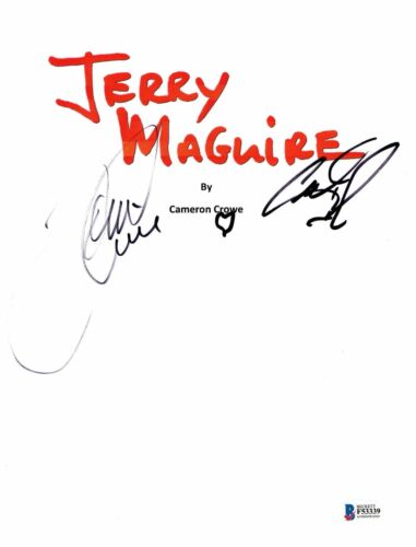 TOM CRUISE & CUBA GOODING JR. SIGNED JERRY MAGUIRE MOVIE SCRIPT BECKETT BAS 1