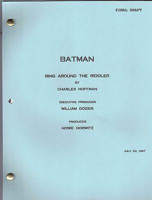 """BATMAN  show script """"Ring Around The Riddler"""""""