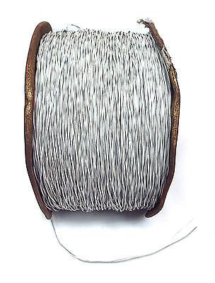 5m 2c Teflon Wire Od1.6mm Multi Strand Copper Silver-plated 0.16mm X19c 22awg
