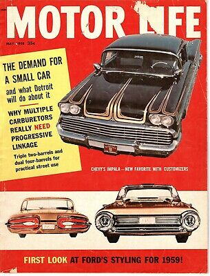 1958 MOTOR LIFE May Chrysler 300 D AMC RAMBLER Triumph reviews CHEVROLET IMPALA